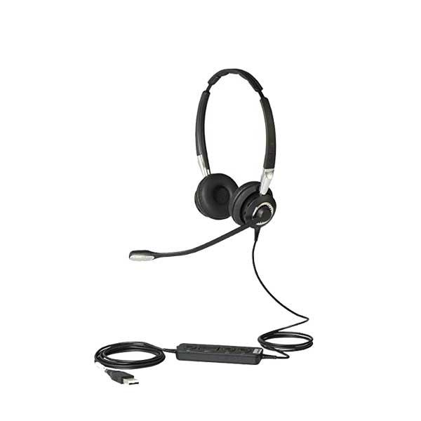 Jabra Biz 2400 II USB Duo CC Ms là tai nghe Jabra 2 bên tai sử dụng cáp USB để kết nối với các Softphone và các ứng dụng UC hàng đầu