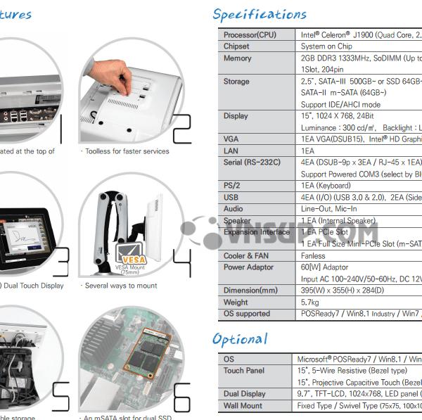 POS ĐA DỤNG NTHW-5000 xuất xứ Hàn Quốc Ap dụng các mô hình dịch vụ: Nhà hàng, Cafe, Trà sữa, Ba, Vũ Trường, Fast Food, SHOP, mini market, siêu thị mini, shop quần áo