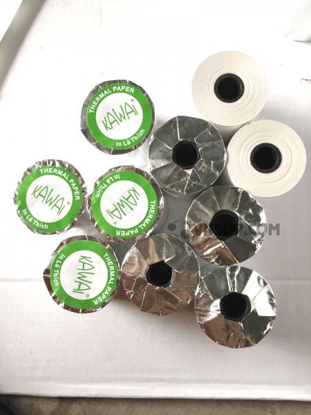 Giấy in nhiệt K58 x 45 mmlà sản phẩm giấy in nhiệt thông dụng, kích thước 45mm sản xuất theo công nghệ hiện đại theo dây chuyền sản xuất giấy Nhật Bản.Là giấy in hóa đơn cảm nhiệt trực tiếp không cần dùng mực in.