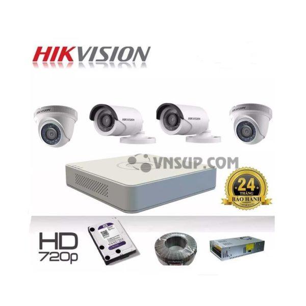 Dành riêng cho khách hàng Quy Nhơn với gói camera trọn bộ gồm 4 Camera HIKVision 1MP, tặng kèm đầu ghi hình 4 cổng ổ cứng lưu trữ 250GB, nguồn cấp điện camera.