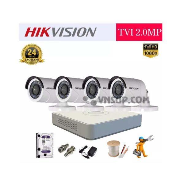 Dành riêng cho khách hàng Quy Nhơn với gói camera trọn bộ gồm: Trọn bộ Camera Hikvision 4 mắt Full HD 2.0M. Độ phân giải: Full HD 2.0 Megapixel. Số lượng mắt: 4 mắt. Đầy đủ Phụ kiện bao gồm: Dây, Nguồn, Jack BNC. Miễn phí nhân công lắp đặt