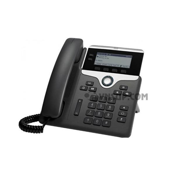 Điện thoại IP Cisco 7821-3PCC w / 2 Dòng & Open-SIP