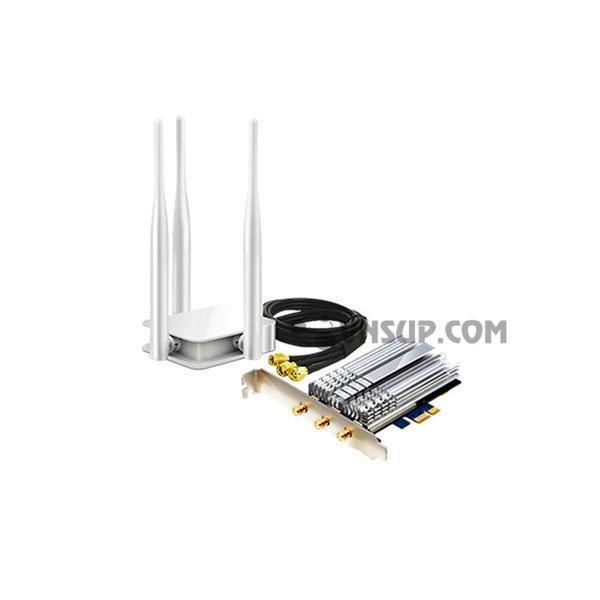 Card mạng Wi-Fi băng tần kép PCI-E AC1900