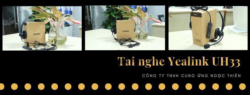 Banner tai nghe Yealink UH33