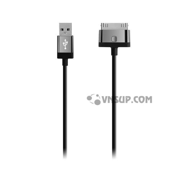 Cáp 30pin Sync & Charge 2.4A 1.2m Belkin F8J041qe04