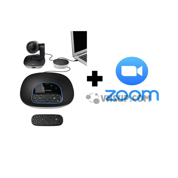 Combo Webcam Logitech Group+Phần mềm Zoom