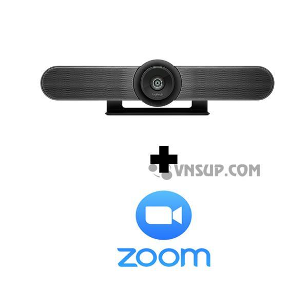 Combo Webcam Logitech MeetUP+Phần mềm Zoom
