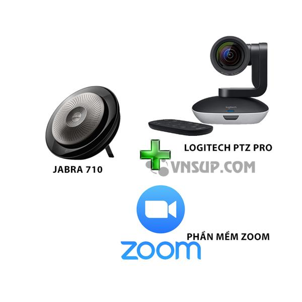 Combo Jabra 710+Logitech PTZ Pro+Phần mềm Zoom