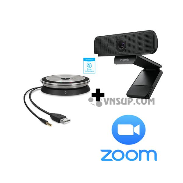 Combo Sennheiser SP20+ Logitech C925e + Phần mềm Zoom