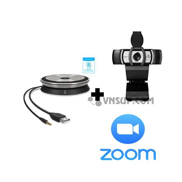 Combo Sennheiser SP20 + LogitechC930e + Phần mềm Zoom