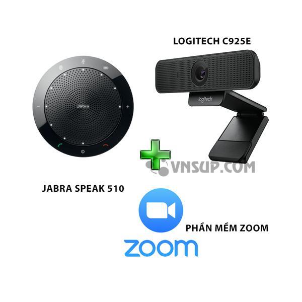 Combo Jabra 510+Logitech C925e+Phần mềm Zoom
