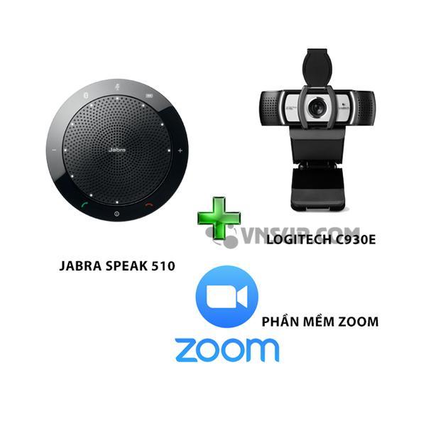Combo Jabra 510+Logitech C930e+Phần mềm Zoom