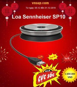 'Sale Sập Sàn' - Loa hội nghị Sennheiser SP10 khuyến mãi cực 'khủng' hơn 20% tại vnsup.com