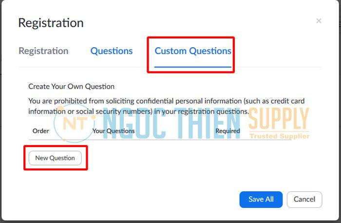 Custom Question