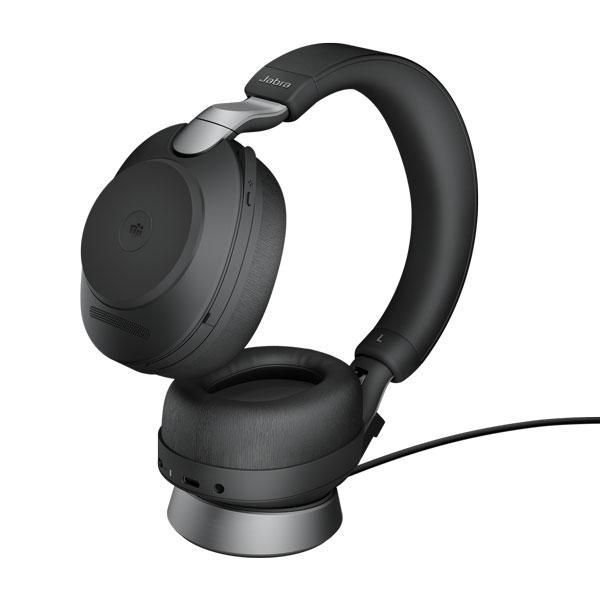 Tai nghe Jabra Evolve2 85 USB-A MS có đế sạc - Đen