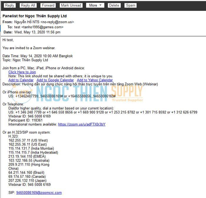 Phần nội dung email nhìn có vẻ rối mắt nhưng thật ra rất đơn giản
