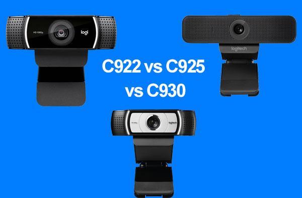 So sánh 3 dòng webcam chuẩn HD giá tốt Logitech C922 & C925 & C930