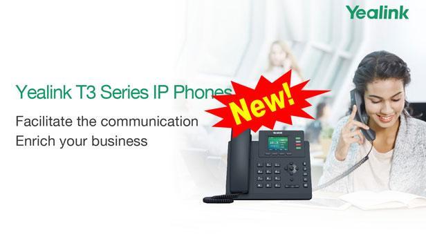 Yealink công bố phát hành điện thoại mới T3 series IP phone