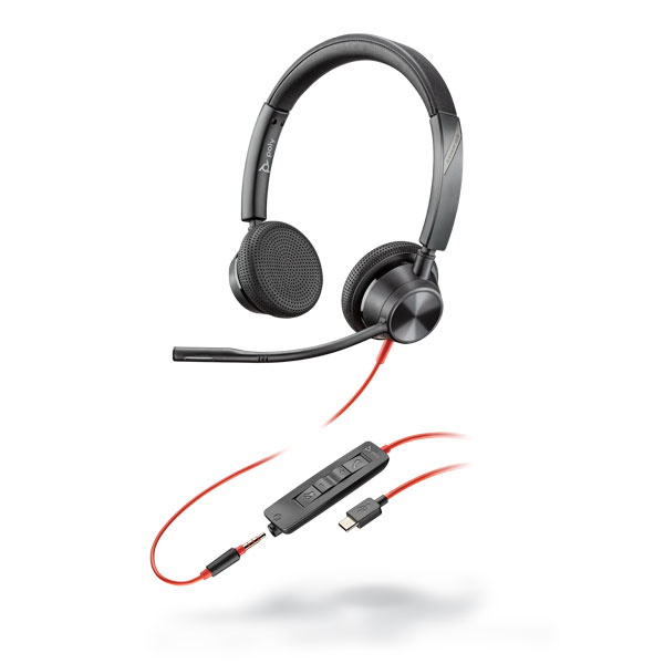 Tai nghe Plantronics Blackwire 3325, Microsoft, USB-C