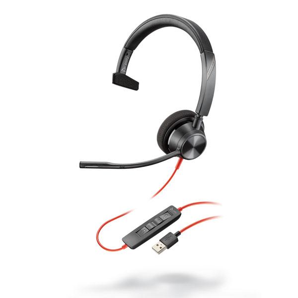 Tai nghe Plantronics Blackwire 3310, Microsoft, USB-A