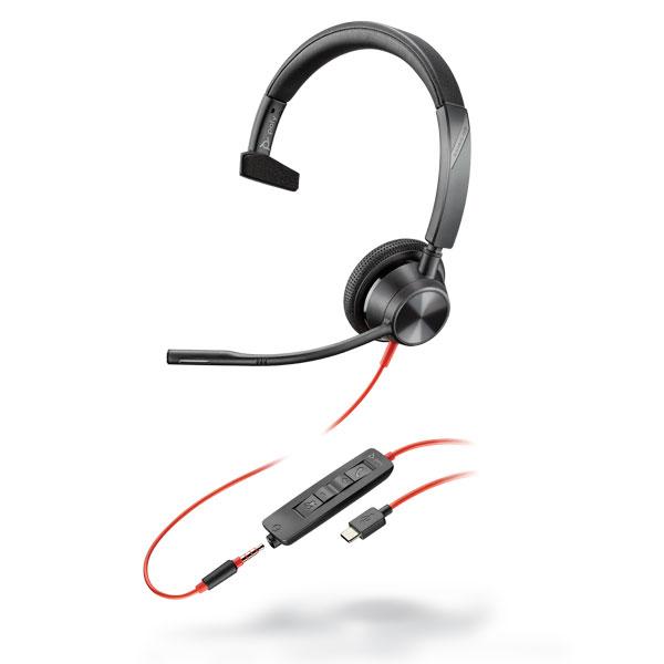 Tai nghe Plantronics Blackwire 3315, Microsoft, USB-C
