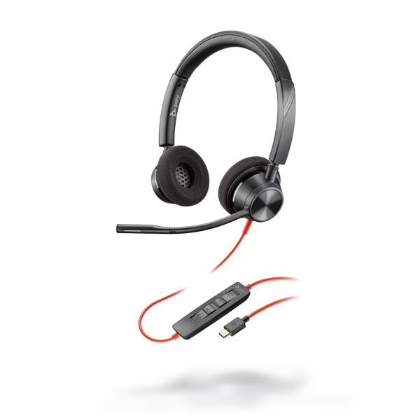 Tai nghe Plantronics Blackwire 3320, Microsoft, USB-C