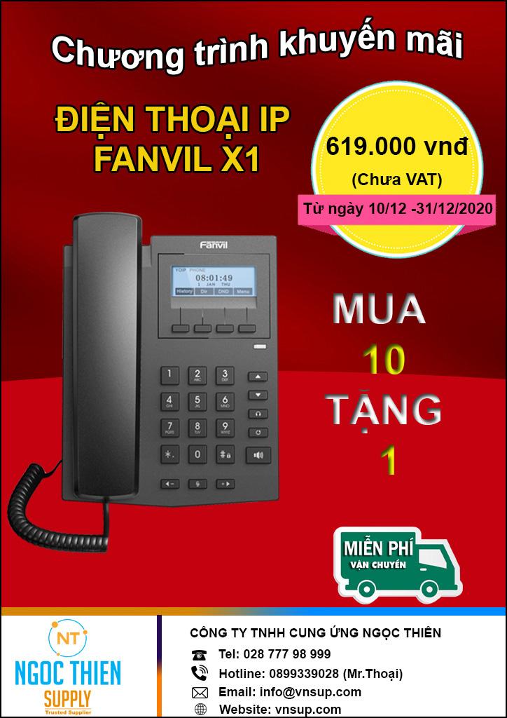 Khuyến mãi HOT nhân dịp cuối năm Điện thoại IP Fanvil X1 giá tốt