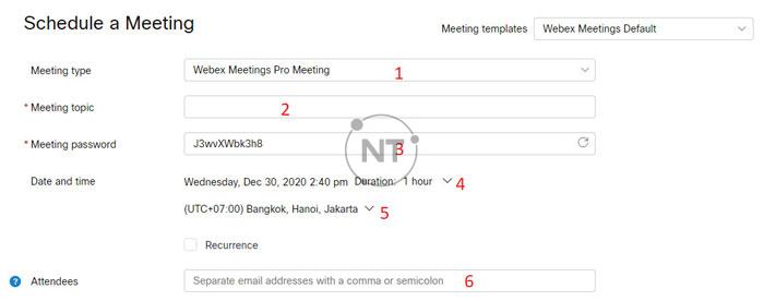 Hướng dẫn sử dụng các tính năng cơ bản của Webex Meetings trên Window