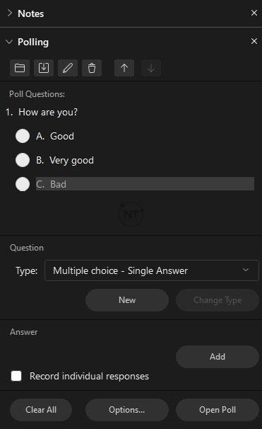 Tính năng khảo sát trong Webex Meetings